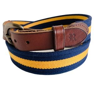 Polo Ralph Navy Blue & Yellow Rugby Belt